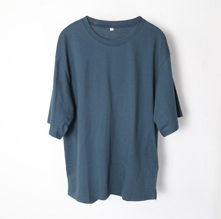 New summer solid Mens loose T font b Shirts b font streetwear font b Men b