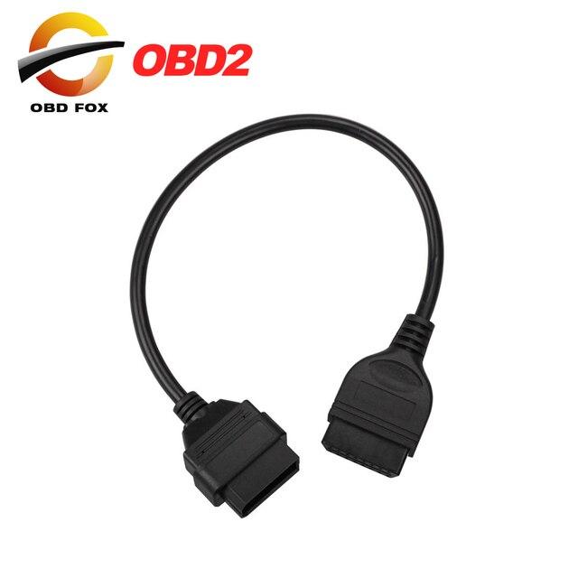 2019 닛산 14 핀 16 핀 여성 OBD2 OBDII 케이블 진단 어댑터에 대 한 상위 판매 무료 배송