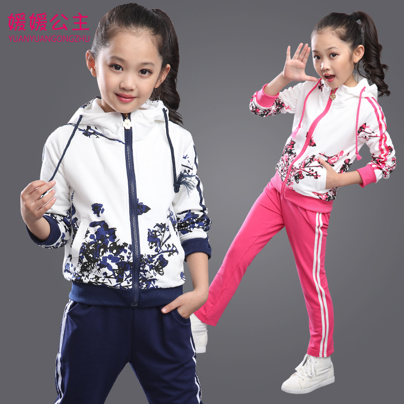 cdac5d5d2 2019 New Spring Kids Girls Clothes Children Clothing Set Fashion Foral  Print Hoodies + Pants Two Piece Sport Suits Age 3 15T-in Clothing Sets from  Mother ...