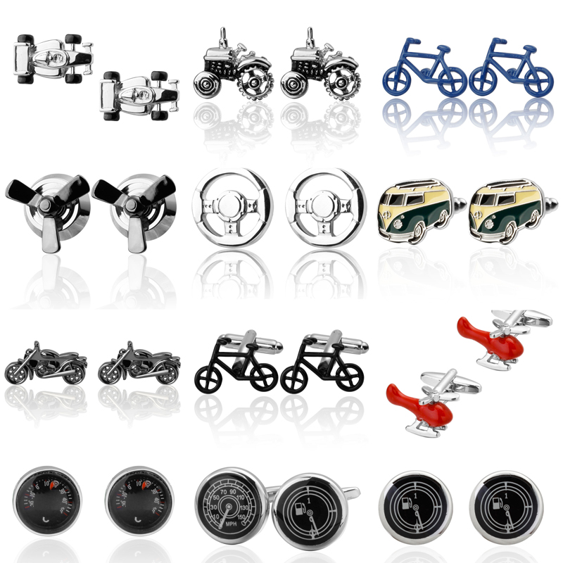 High Quality Vehicle Cufflinks Superheroes car designs s