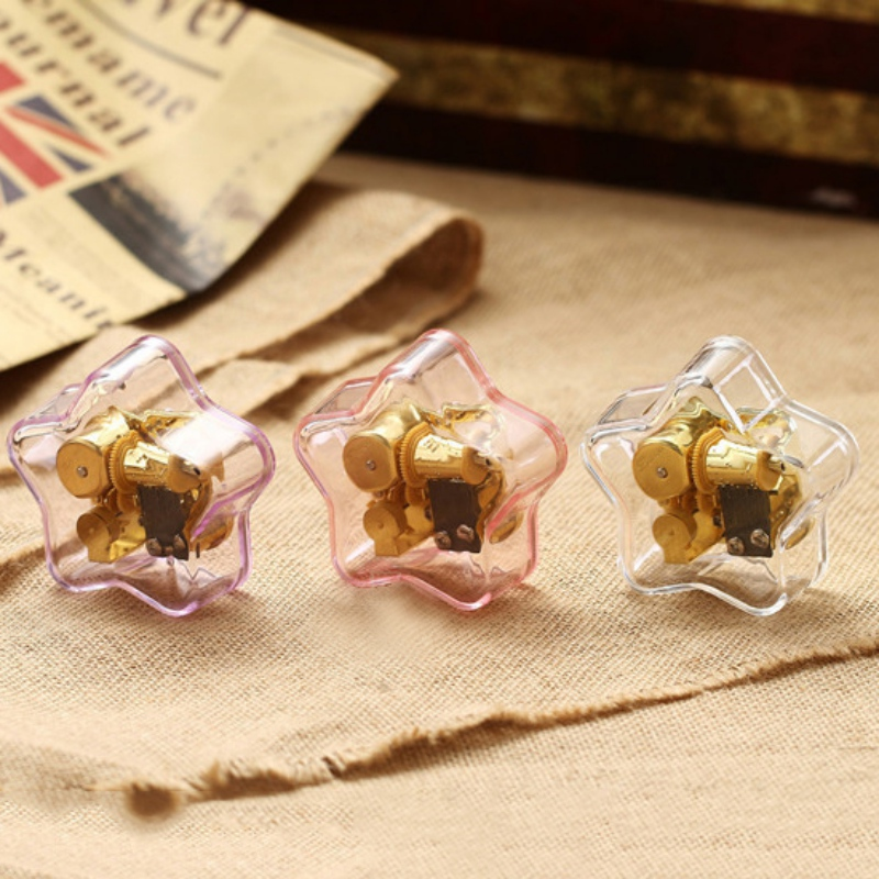 New Pop Acrylic Star Music Box Creative Music Box gifts Lovely Home Decoration 6 Songs in Selection