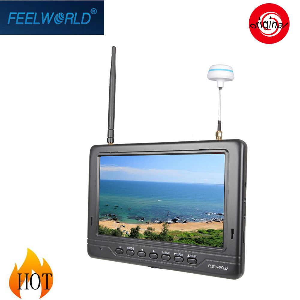 """Feelworld FPV-718W 5.8 G 7 """" FPV Monitor dengan Built-in Dual 32CH penerima keragaman untuk DJI Phantom menginspirasi 1 kamera DSLR"""