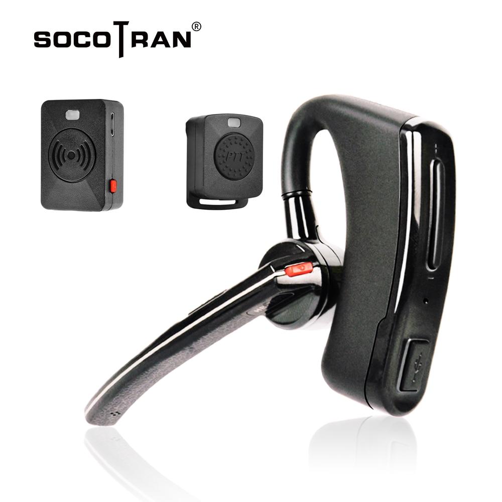 Wireless Walkie Talkie Bluetooth Ptt Headset Earpiece For KENWOOD Microphone Headset Adapter Baofeng UV-5R UV-82 Earphone