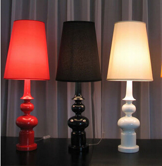 Modern Table Lamp Living Room Bedroom Study Gourd Type Table Lamp Floor Lamp  Black / White / Red Decoration Light