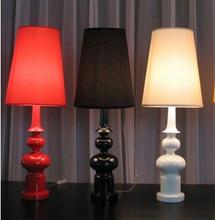 Modern Table Lamp living room bedroom study gourd-type table lamp floor lamp black / white / red decoration light