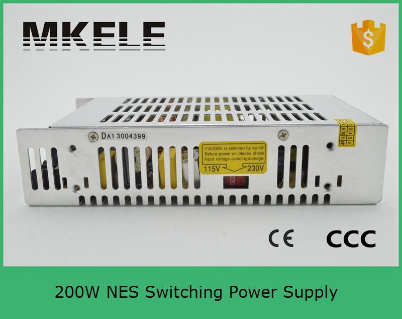 ФОТО s Switching Power Supply NES 200 5 5V 40A 200W AC85~264Vin 215x115x50 size same as Tai Wan MeanWellinput 110v 220v