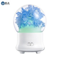 Eternal Flowers Type 100ml Aroma Essential Oil Diffuser Cool Mist Whisper Quiet Humidifier With 2 Mist