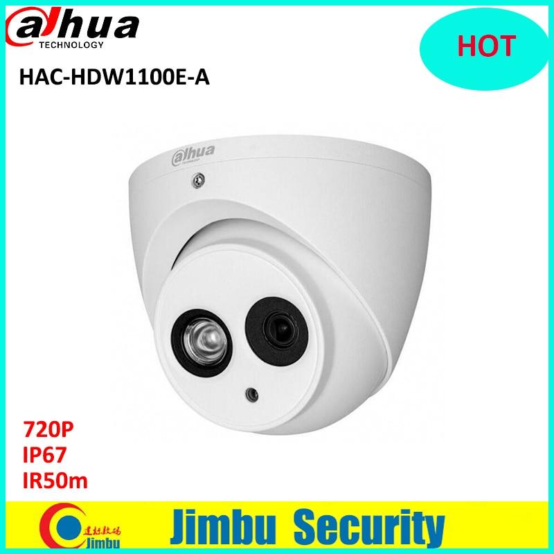 DAHUA HDCVI 720P DOME Camera HAC-HDW1100E-A CMOS 1MP IR 50M IP66 security camera built in mic PAL signal cctv camera dahua outdoor indoor hdcvi camera dh hac hdw1100e 1mp hd network ir security cctv dome camera ir distance 40m hac hdw1100e ip67
