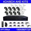 Новый Горячий Продажа 720 P/960 P/1080 P 6 шт. Светодиодов Массива 4CH/8CH Каналы Открытый AHD CCTV Камеры Безопасности Комплекты Бесплатная Доставка