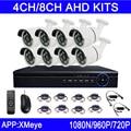 Nueva Venta Caliente 720 P/960 P/1080 P 6 unids Arsenal Led 4CH/8CH Canales Al Aire Libre AHD KITs de Cámaras de Seguridad CCTV Envío Gratis