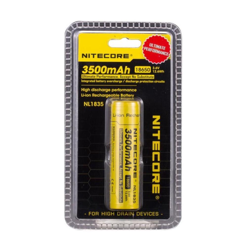 2 pcs Nitecore NL1835 18650 3500mAh new version of NL1834 3 6V 12 6Wh Rechargeable Li