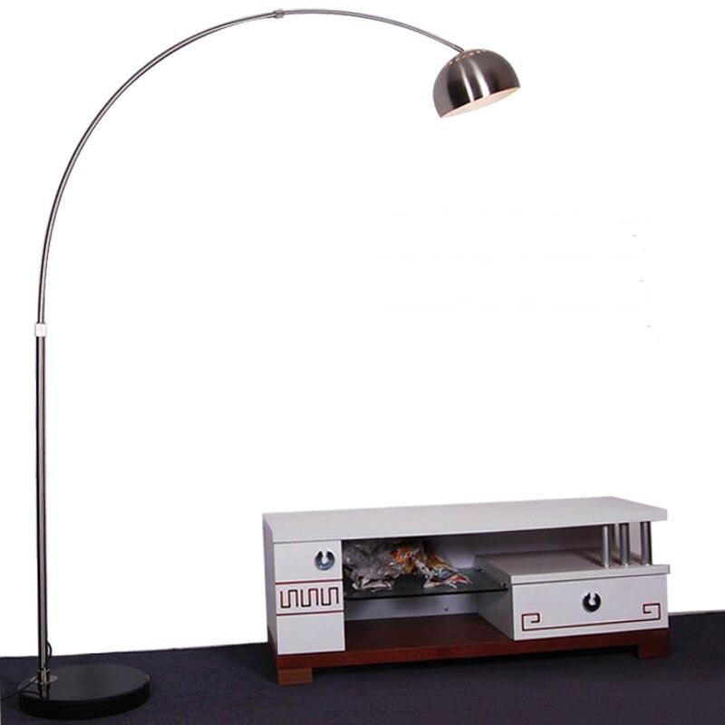 New Modern Curved Floor Lamp Fishing Floor Light Living Room Simple LED Lighting