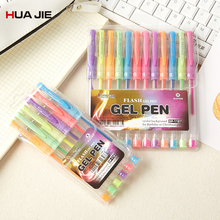 Colorful Fluorescent Gel Pen Signature 0.5mm 6/12 Colors Creative Refill Drawing Tools Student Gifts GP-1127
