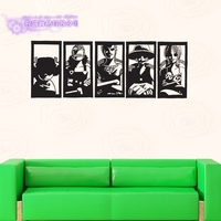 DCTAL One Piece Poster Sticker Cartoon Wall Stickers Wall Decors Decal Wall Paper Home Decoration CP002
