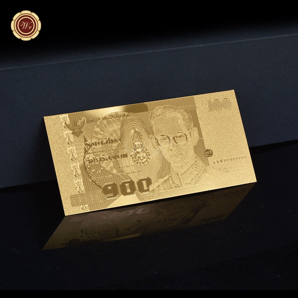 ไทยบาทปกติทองธนบัตรประเทศไทย100สำหรับฟอยล์สีทองของขวัญคอลเลกชัน