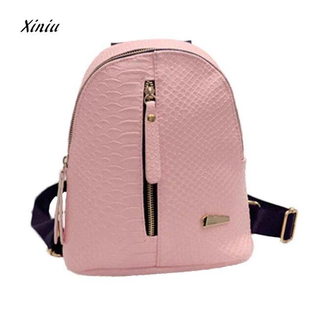 f681c2ee97 Fashion Women Leather Backpacks School bags Luxury Designer Ladies Travel  Shoulder Bag Womens Backpack bolsa feminina 2018 New