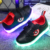 Tamaño 26-37//cesta de carga usb led niños shoes con luz up kids boys & girls casual luminoso zapatillas de deporte de zapatos brillantes enfant