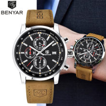 2018 BENYAR Watch Men Top Brand Luxury Quartz Business Men's Watches Fashion Military Chronograph Sports Clock Relogio Masculino(China)