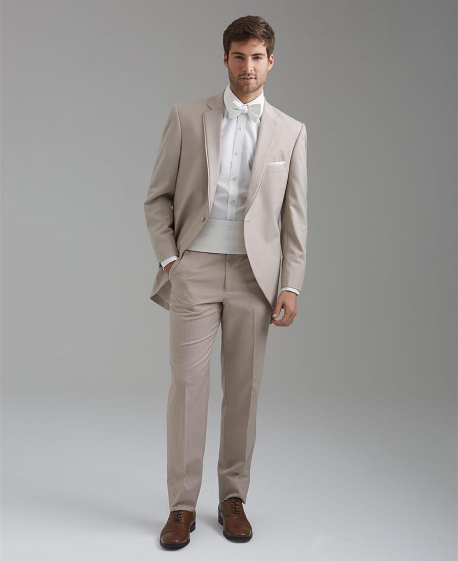 Aliexpress.com : Buy men beige suits groom wear classic suit ...