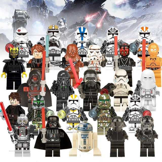 Single Sale Legoing Star Wars The Force Awakens Clone Trooper Commander Fox Rex Building Blocks Models Bricks Toys For Children