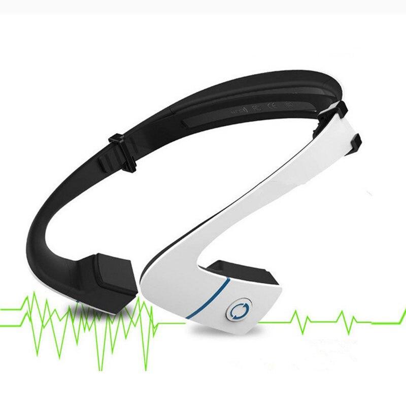 NFC Sans Fil Bluetooth Écouteurs à Conduction Osseuse Étanche courroie de Cou Casque Stéréo Sport mp3 Studio Musique