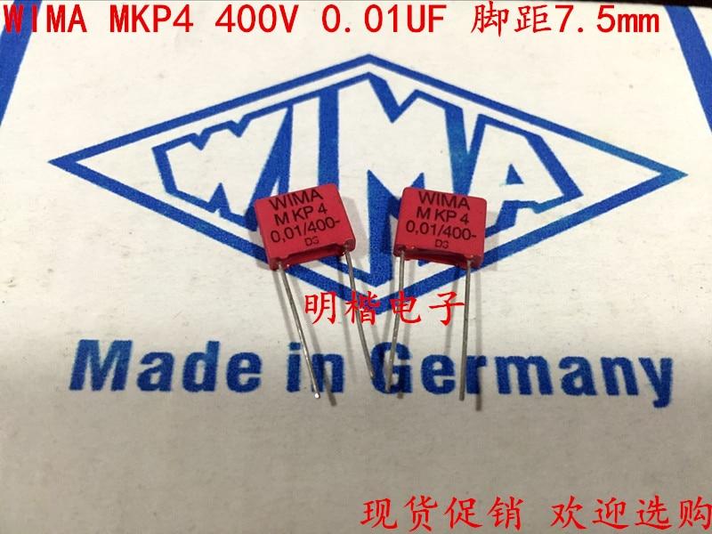 Milímetros de Áudio Sale Mkp4 20pcs Alemanha Wima 400v 0.01uf 103 10n p: 7.5 Capacitor Frete Grátis 2020 Hot 10pcs –