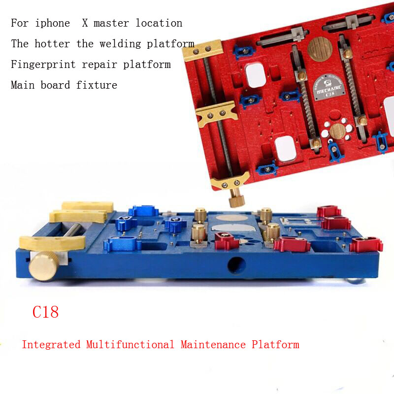 Integrated Multifunctional C18 Double Bearing BGA Chip Locating Platform High Temperature Resistance Cell for Phone Main Board C