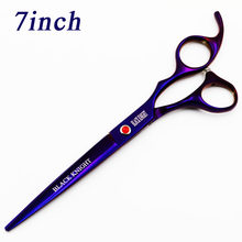 BLACK KNIGHT Professional Hairdressing scissors 7 inch Cutting Barber shears pet scissors purple style(China)