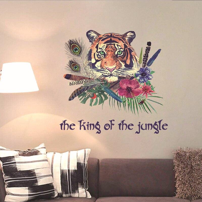 Kreative Tribe Wind Wohnzimmer Tier Wandaufkleber Schlafzimmer Sofa TV Wand  Dekoration Personalisierte Aufkleber Tiger Aufkleber