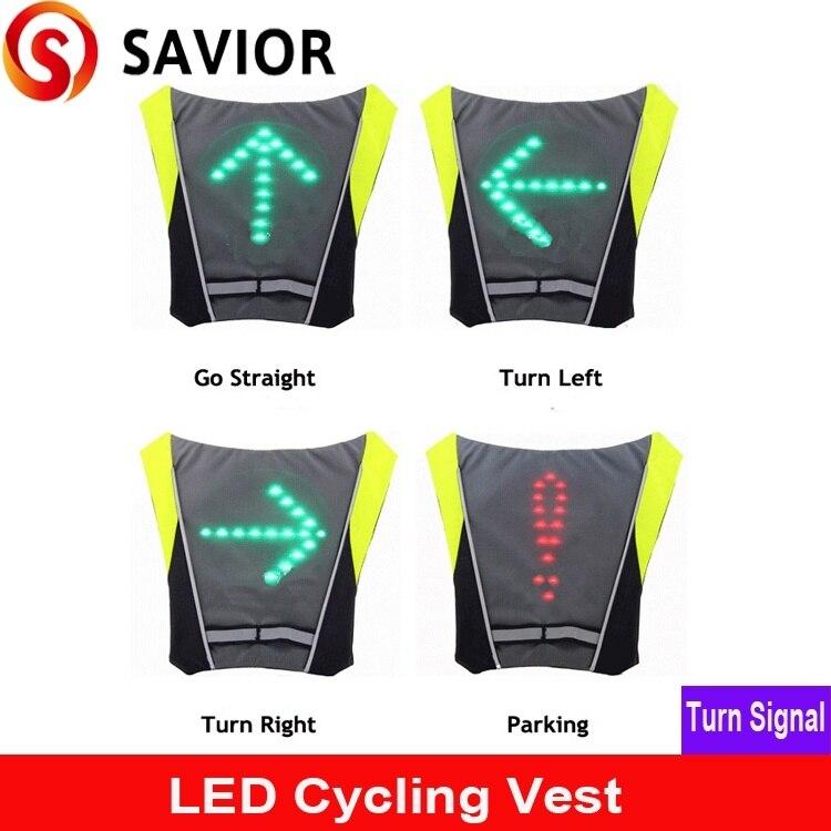 SALVADOR ciclismo colete Luz Indicadora de Sinal de Controle Remoto LEVARAM luzes de Bicicleta colete para Mochila, caminhadas ao ar livre/camping bicicleta colete