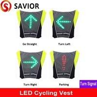 SAVIOR cycling vest Signal Light Indicator Remote Control LED Bike lights vest for Backpack,outdoor hiking/camping bicycle vest