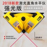 Kit de ferramentas da telha da parede Ângulo Direito 90 Grau Quadrado Ferramenta de Nível Laser Nível Ferramenta De Medição A Laser rangefinder
