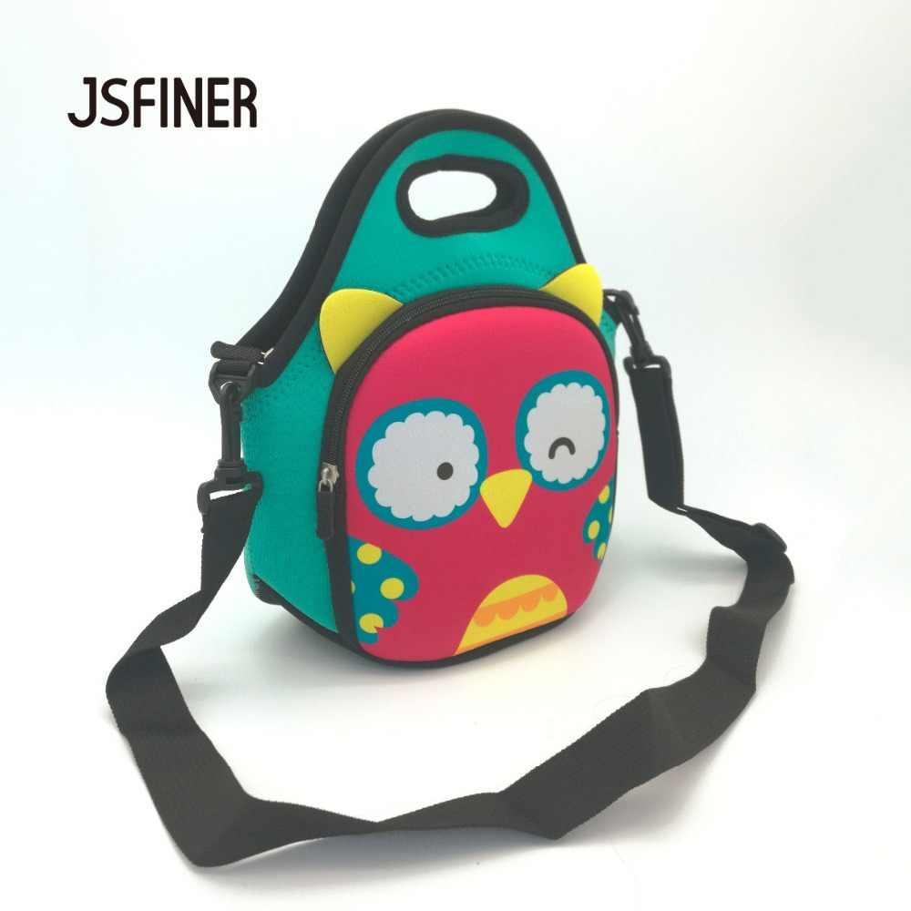 Bolsas de almuerzo con diseño de cara de Animal JSFINER 2 personas con aislamiento térmico impermeable 100% de neopreno para Picnic bolsa de Almuerzo