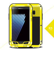 Love Mei for Samsung Galaxy Note FE Case Aluminum Metal Cover Luxury Rugged Armor Shockproof Cool Protection Phone Cases