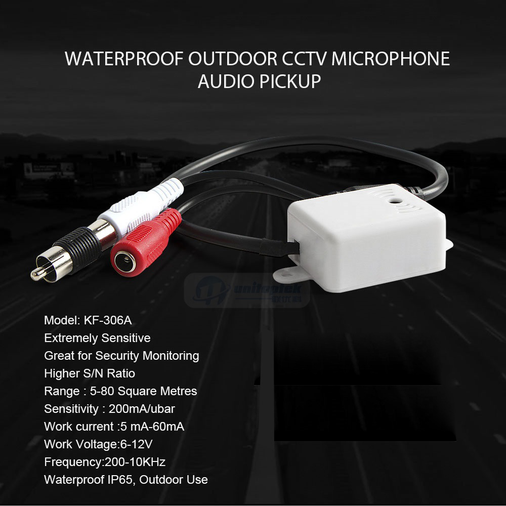 Waterproof Outdoor CCTV Microphone Audio Pick Up Device High Sensitivity Work For PTZ Camera IP405G-2MP-30X-AP IP405G-5MP-30X-APWaterproof Outdoor CCTV Microphone Audio Pick Up Device High Sensitivity Work For PTZ Camera IP405G-2MP-30X-AP IP405G-5MP-30X-AP