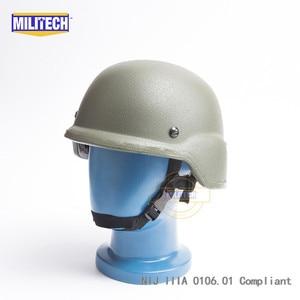 Image 2 - Militech OD Oliver Drab PASGT NIJ IIIA 3Aเต็มรูปแบบBallistic Bulletproof Aramid Bullet Proofหมวกกันน็อกLabการทดสอบวิดีโอ