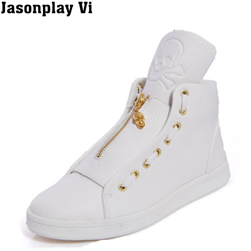 ФОТО Jasonplay Vi & 2016 New Brand Fashion Breathable Men Shoes Autumn Style High Top Leather Slip Flat Shoes Men Casual Shoes WZ256