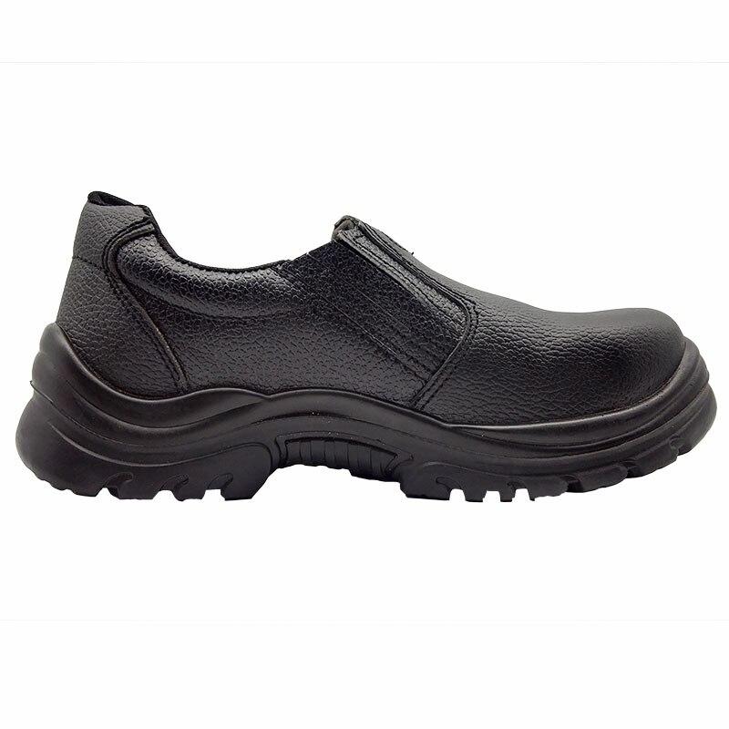 Mężczyzna duży rozmiar stalowe noski na palce u stóp buty robocze BHP czarny slip on buty na zewnątrz antypoślizgowe odporne na przebicie prawdziwej skóry buty ochronne w Obuwie robocze i ochronne od Buty na  Grupa 3