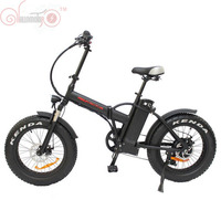 EU DUTY FREE ConhisMotor Mini Foldable Ebike 36V 500W 8Fun Bafang Hub Motor 20 Fat Tire Electric Bicycle 15AH Lithium Battery