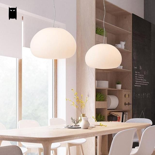 milchglas schatten waterdrop anh nger leuchte nordic koreanische kreative h ngende lampe plafon. Black Bedroom Furniture Sets. Home Design Ideas