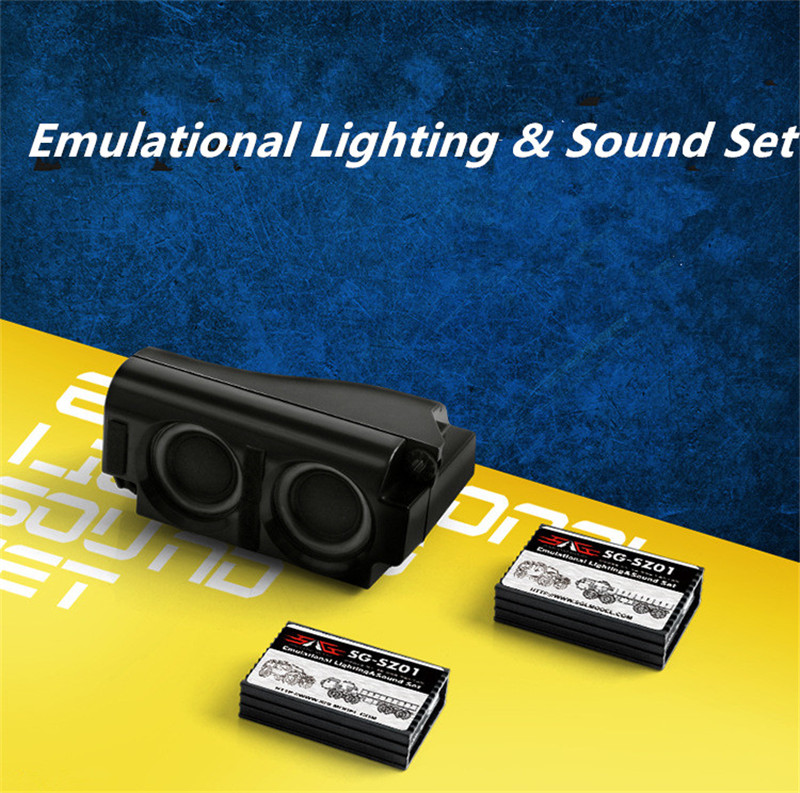 все цены на Emulational Lighting Sound Set Car Audio Simulation Sound Group ESS Component RC Car Sound Horn Engine Simulator Throttle онлайн