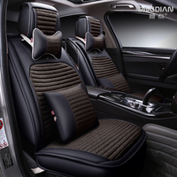 2017 New 3D Styling Sports Car Seat Cover Cushion High grade Flax, Car Accessories,Car styling For BMW Audi HONDA CRV Toyota
