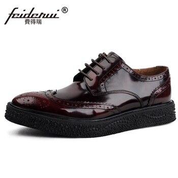 Marca Zapatos Británico Formal Tallado Plana Plataforma Hombre TWxHqH8EwY