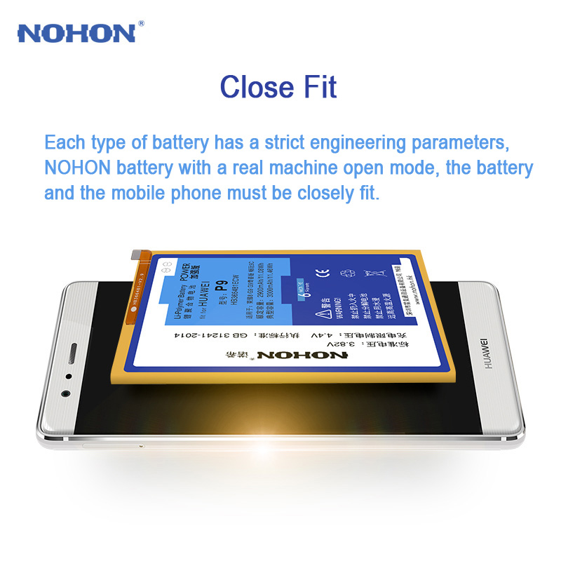 US $9 73 38% OFF|NOHON Battery For Huawei P9 G9 Lite Honor 6 7 8 5C 4X 7i  P8 / P8 Lite Enjoy 5S HB366481ECW Replacement Lithium Polymer Bateria-in