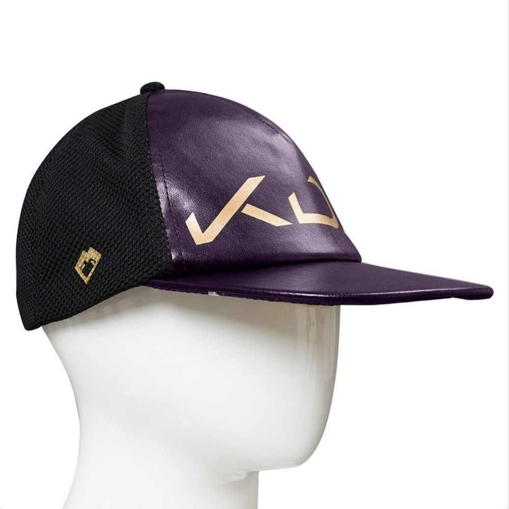 LOL Косплей Rogue Assassin Akali Кепка шляпа K/DA Косплей Взрослый Хэллоуин реквизит KDA Логотип Бейсбольная Кепка Женская Мужская