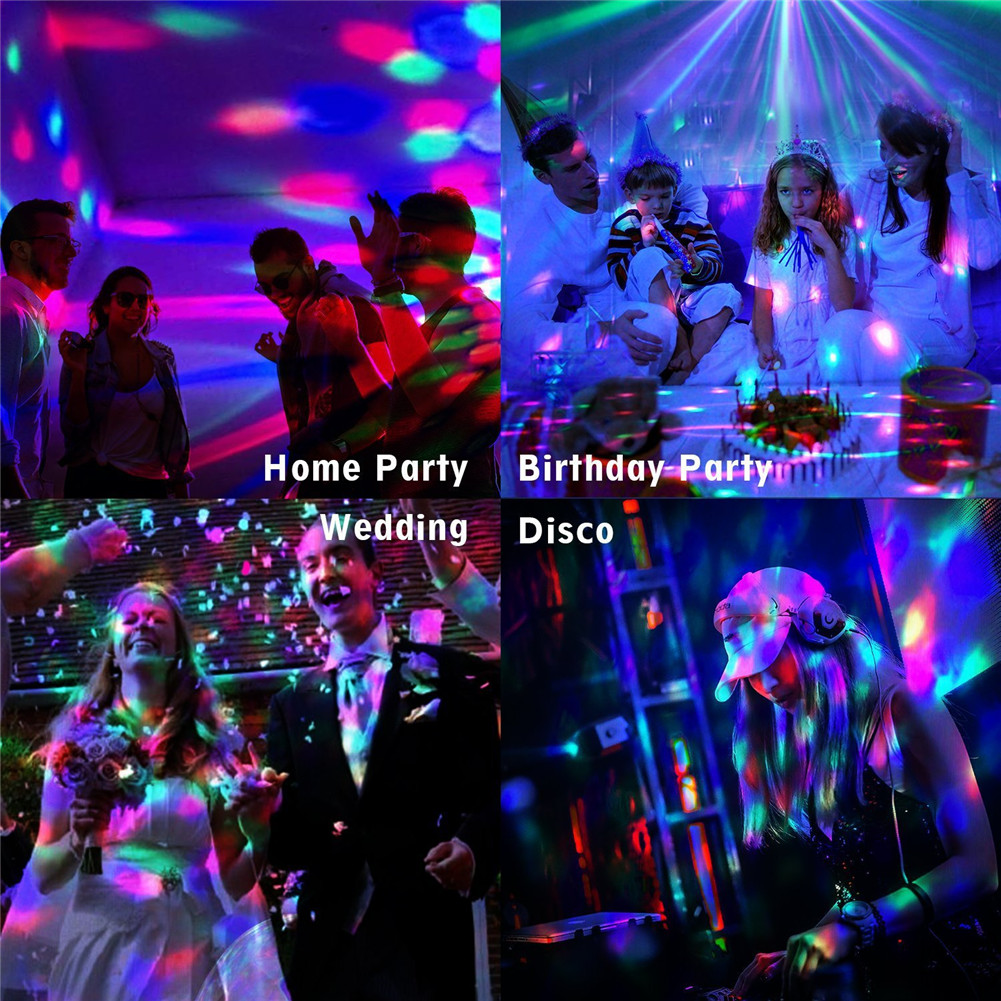 Party Lights Sound Activated With Remote Halloween Disco Ball Light Rotating LED Stage Lights UD88