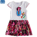 novatx H6313 2017  new arrival frock baby girl clothes summer short sleeve dress embroidery floral  girl dress hot selling