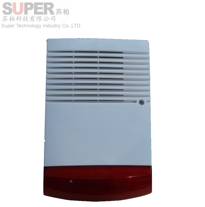 ФОТО 121 outdoor big size wired Siren Wired Siren with Red Flash Light Alarm System Strobe Light and Siren ALARM Speaker 115db EAS