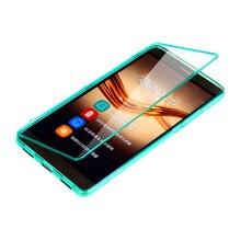 Fundas Huawei Honor Примечание 8 чехол Флип ясно ТПУ чехол силиконовый прозрачный Coque Примечание 8 Carcasa Сенсорный экран протектор телефона