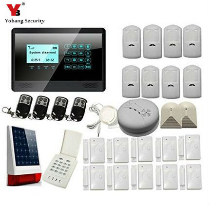 YobangSecurity Touch Keypad Wireless GSM SMS Autodial Smart Home Security Burglar Alarm System Smoke PIR Motion Door Sensor wireless smoke fire detector for wireless for touch keypad panel wifi gsm home security burglar voice alarm system